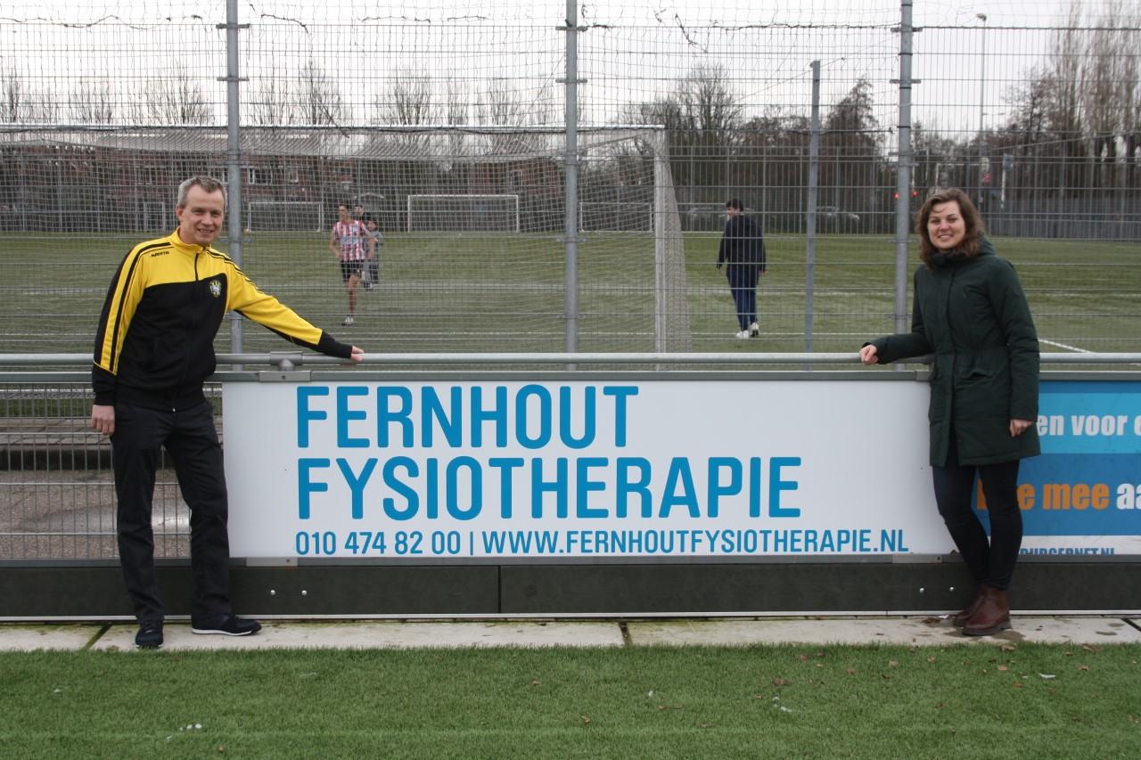 Reclamebord Fernhout Fysiotherapie geplaatst